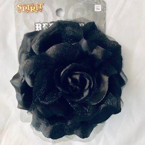 🎃Black Rose hair tie./barrette